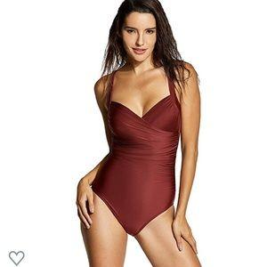 Delimira Tummy Control 1 Piece Underwire Swimsuit